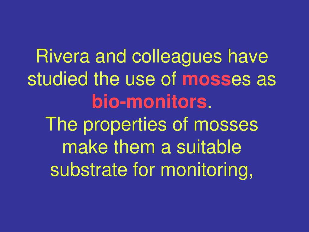 Rivera and colleagues have studied the use of