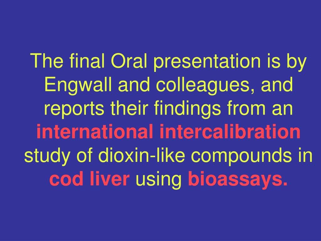 The final Oral presentation is by Engwall and colleagues, and reports their findings from an