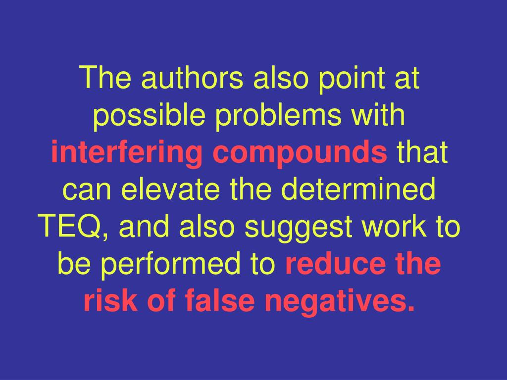 The authors also point at possible problems with