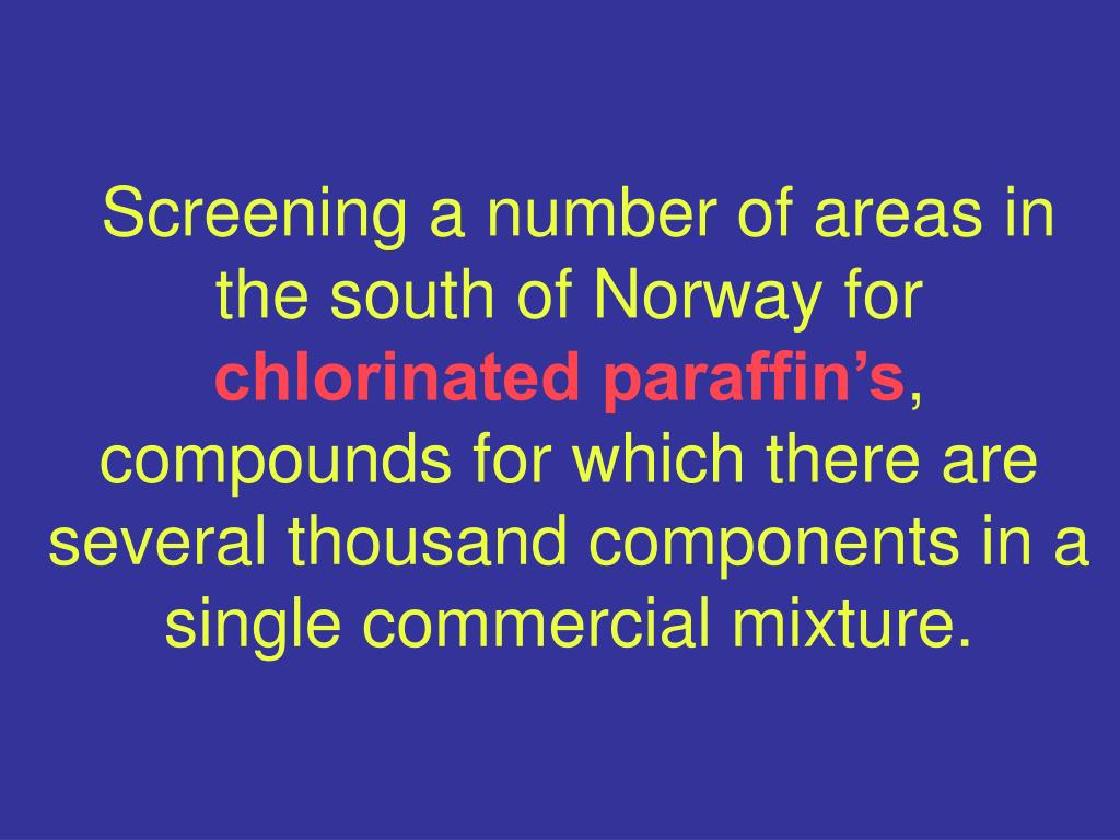 Screening a number of areas in the south of Norway for