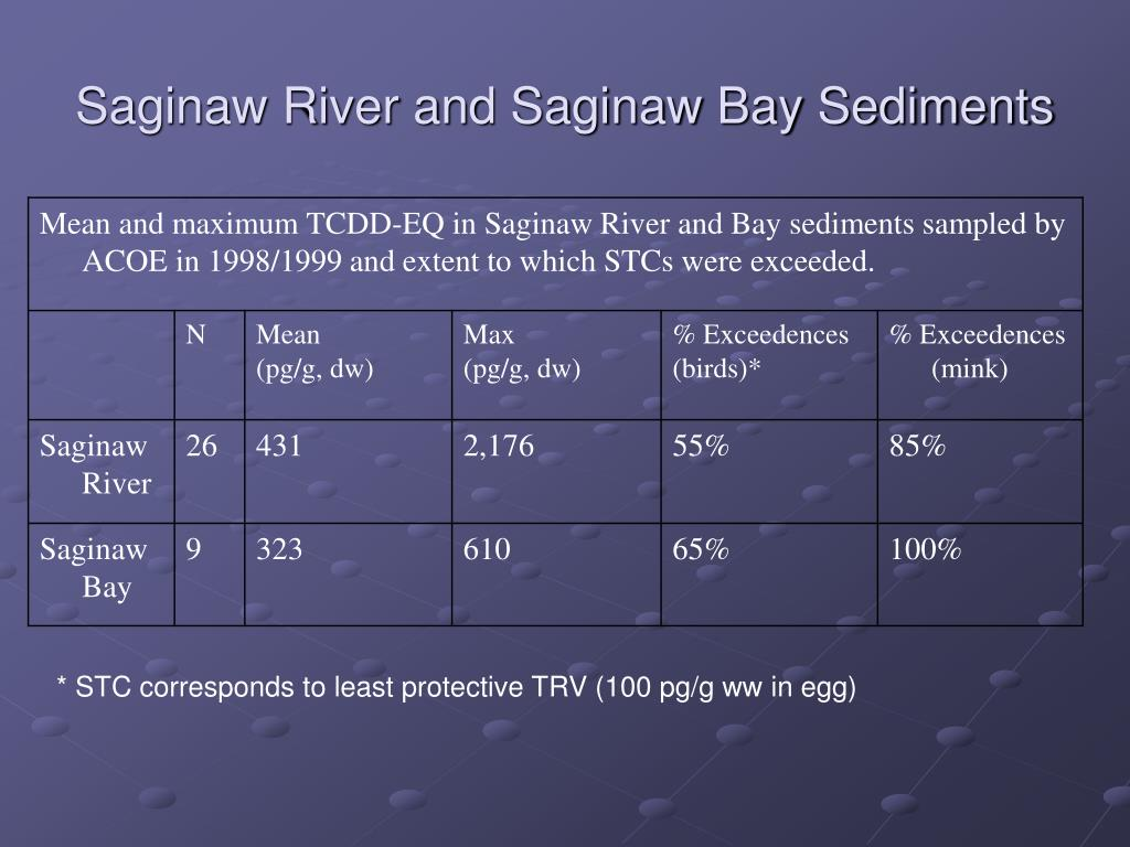 Saginaw River and Saginaw Bay Sediments