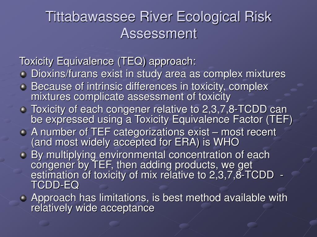 Tittabawassee River Ecological Risk Assessment