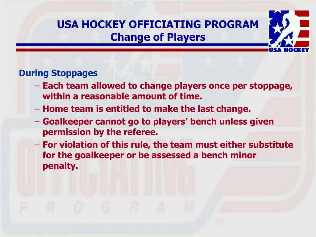 USA HOCKEY OFFICIATING PROGRAM