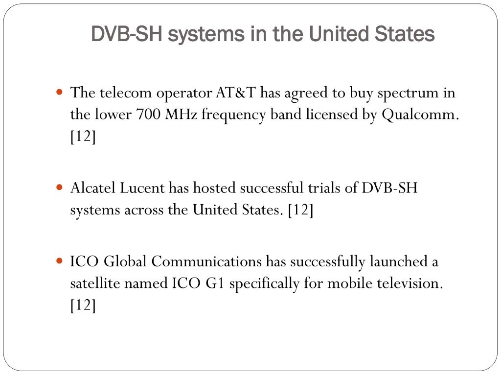 DVB-SH systems in the United States