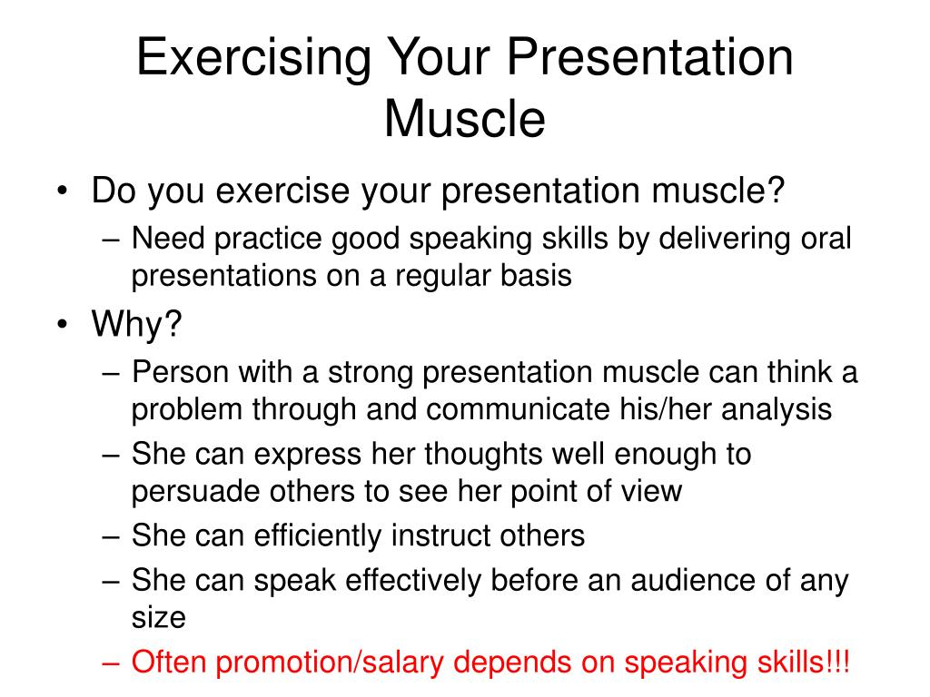 Exercising Your Presentation Muscle