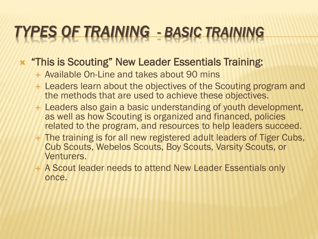 """This is Scouting"" New Leader Essentials Training:"