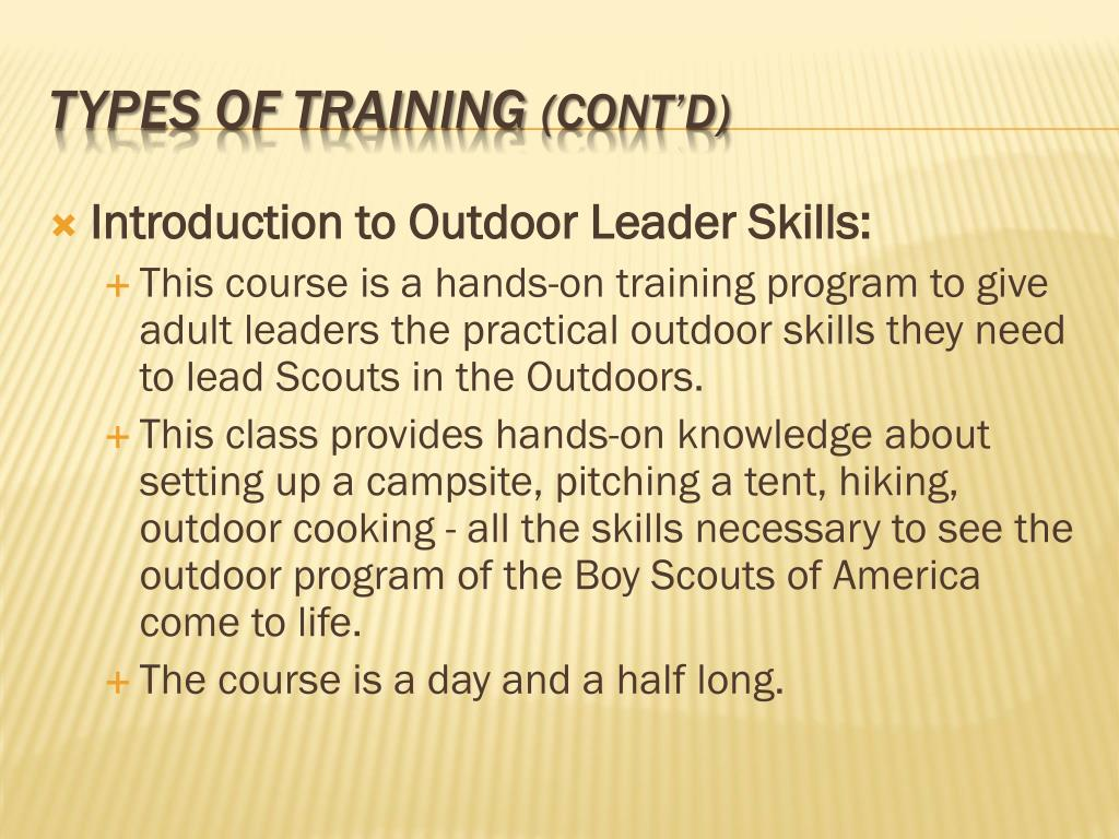 Introduction to Outdoor Leader Skills:
