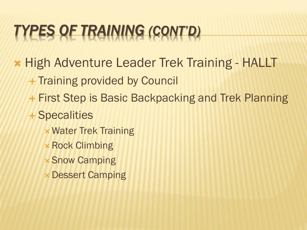 High Adventure Leader Trek Training - HALLT
