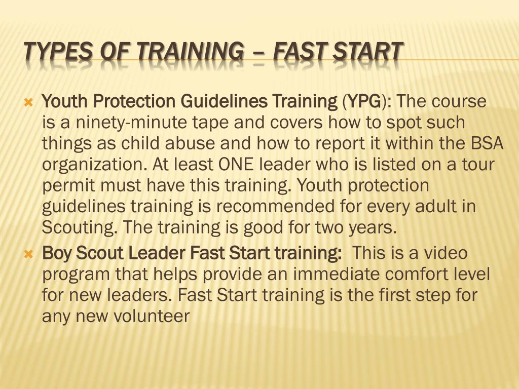Youth Protection Guidelines Training