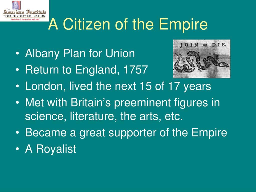 A Citizen of the Empire