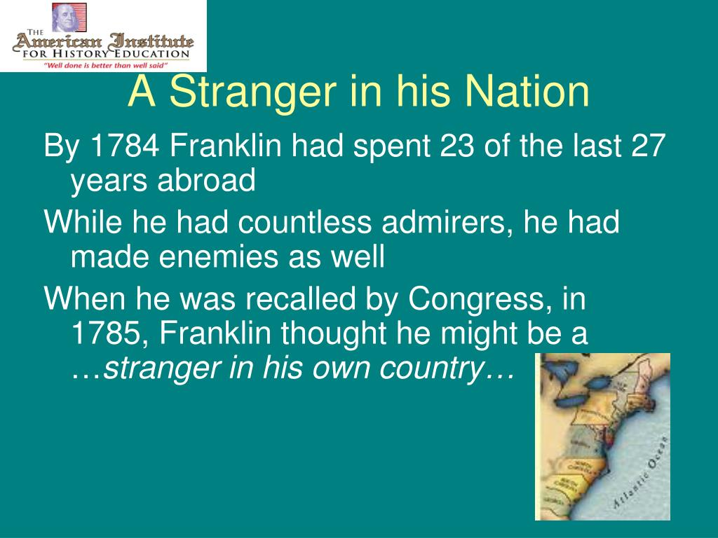 A Stranger in his Nation
