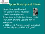 apprenticeship and printer