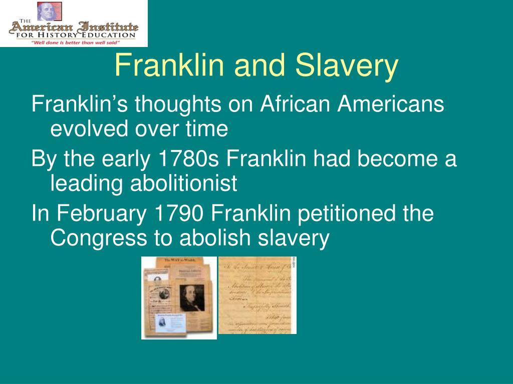 Franklin and Slavery