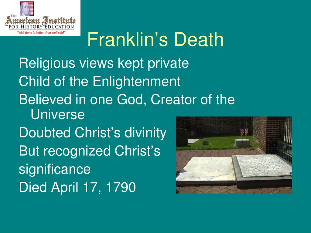 Franklin's Death
