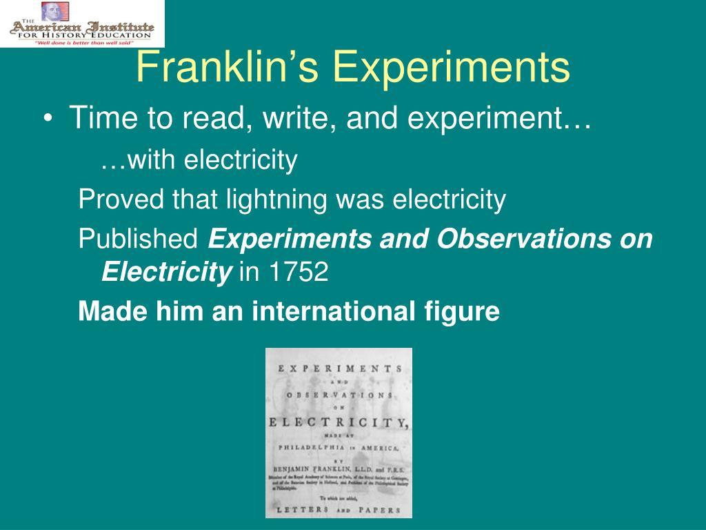 Franklin's Experiments
