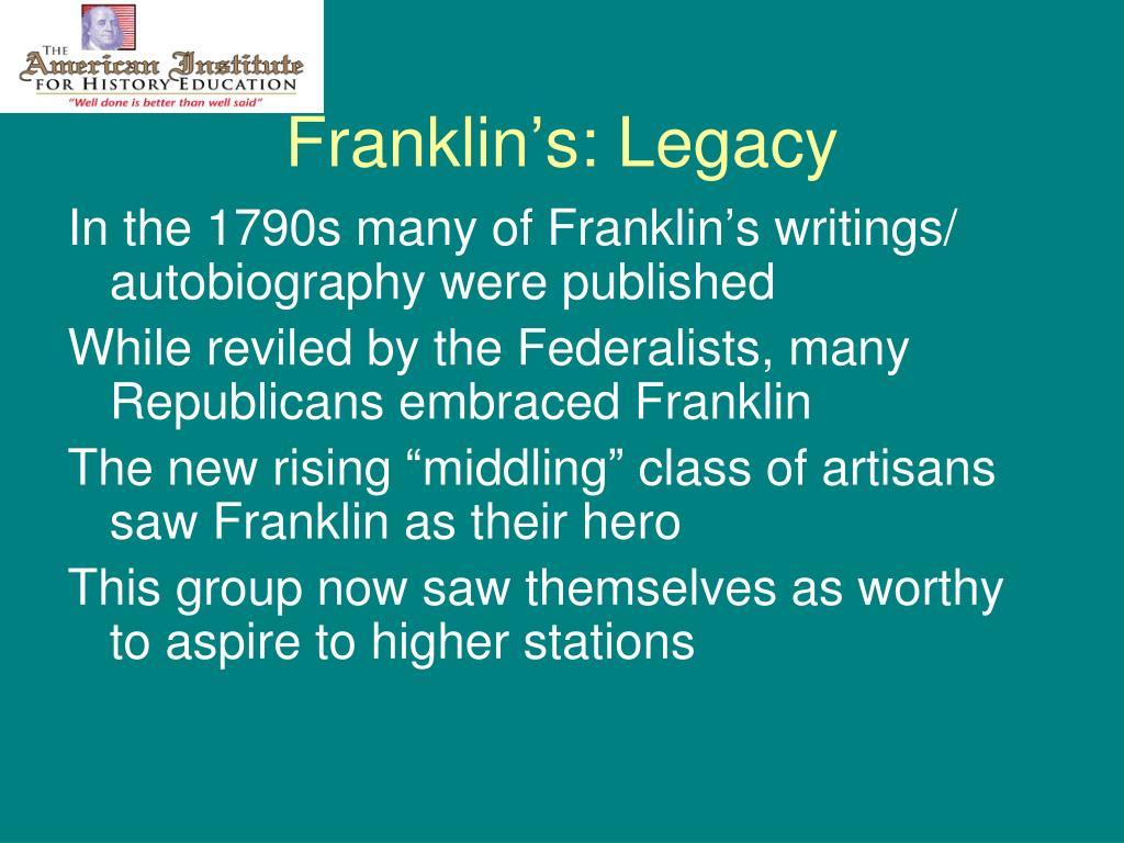 Franklin's: Legacy