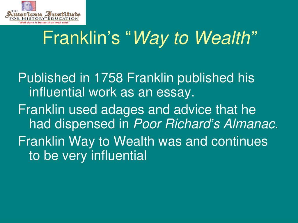 "Franklin's """