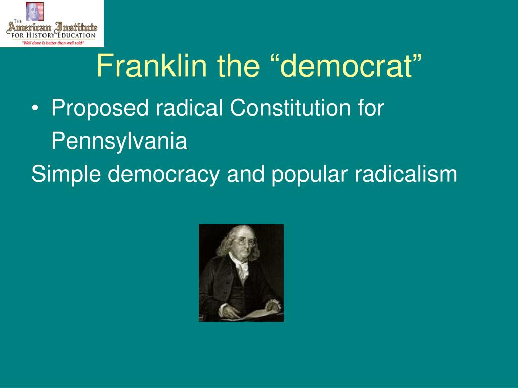 "Franklin the ""democrat"""