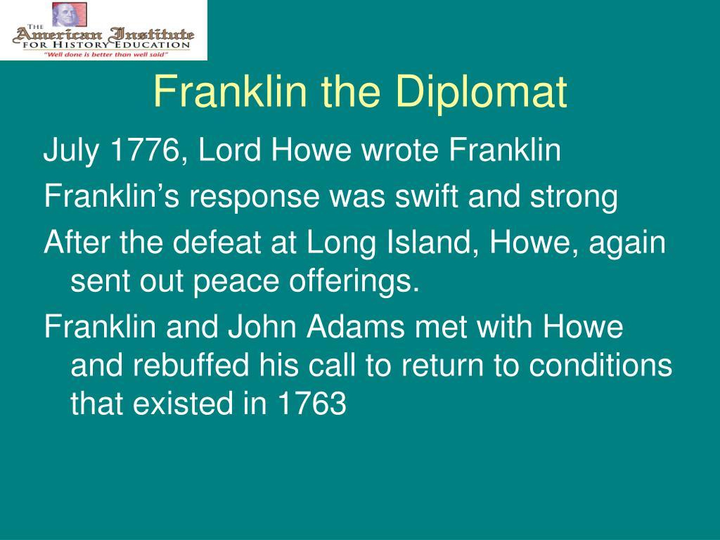 Franklin the Diplomat