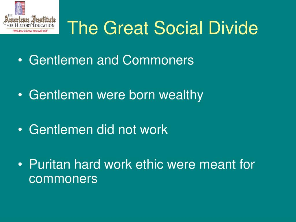 The Great Social Divide