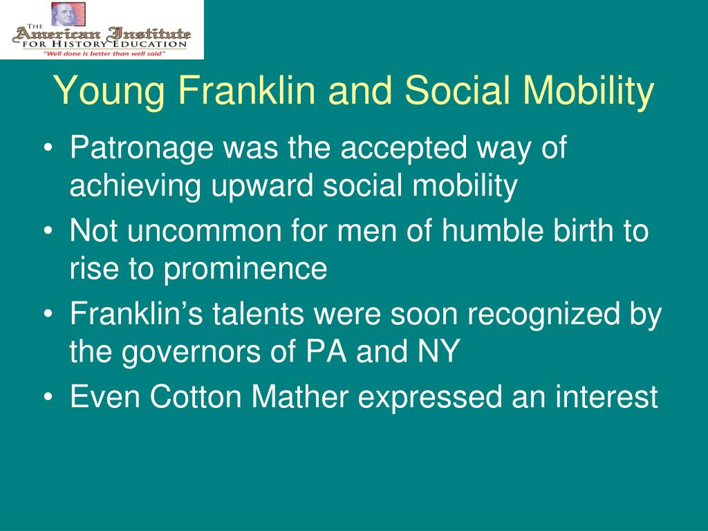 Young Franklin and Social Mobility