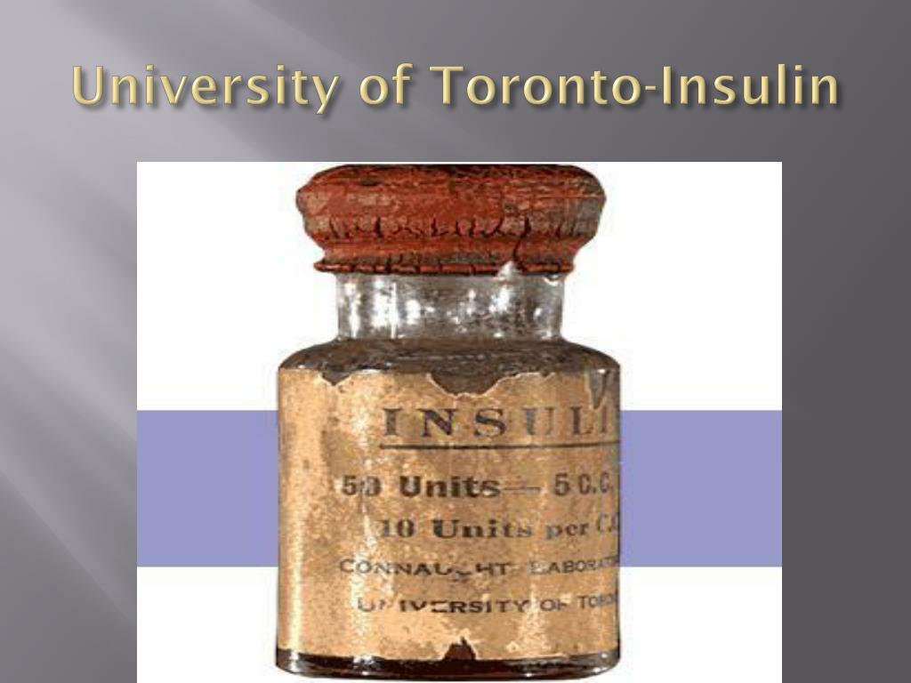 University of Toronto-Insulin