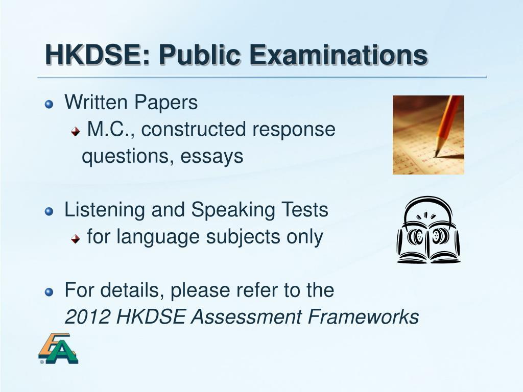 HKDSE: Public Examinations
