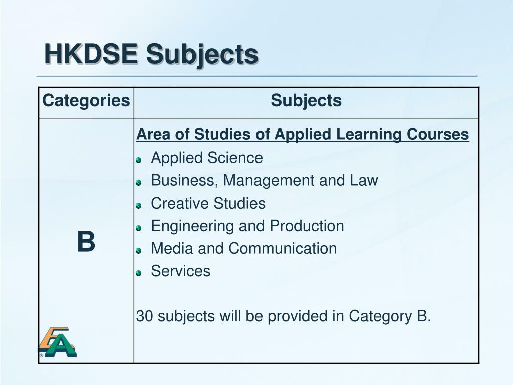 HKDSE Subjects