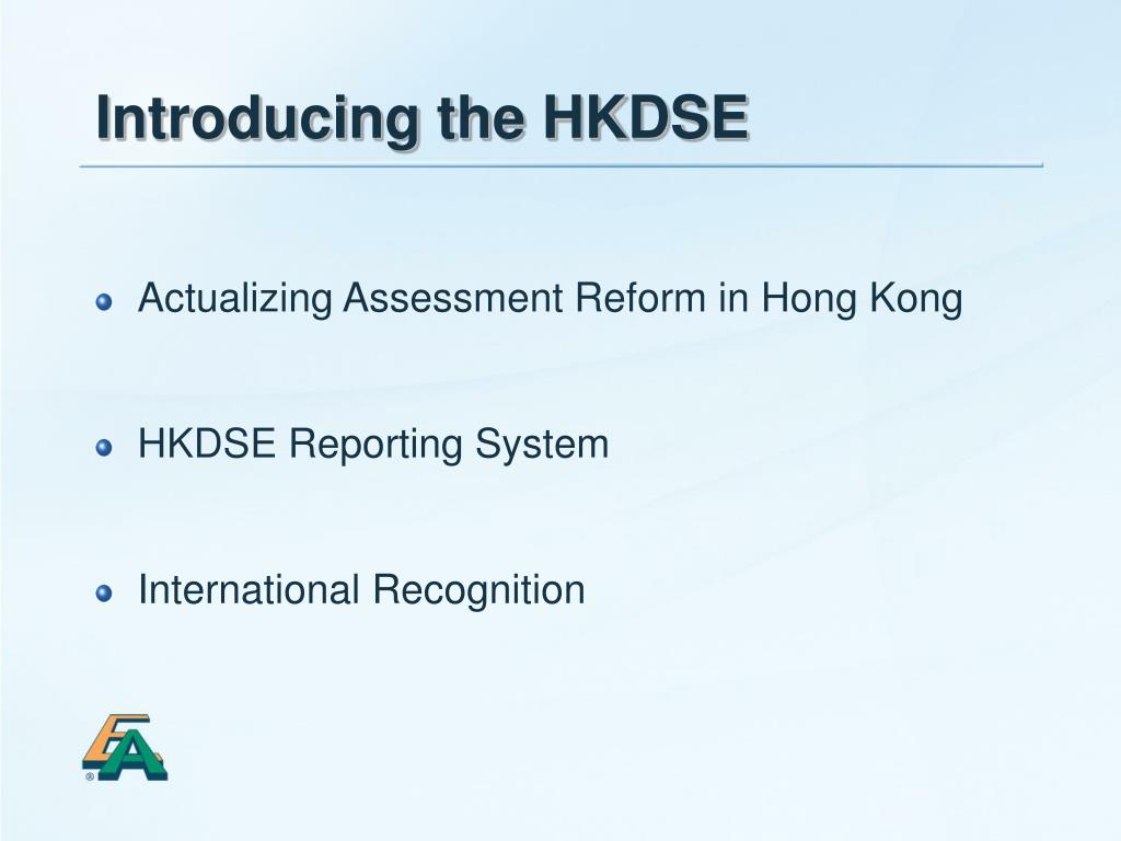 Introducing the HKDSE