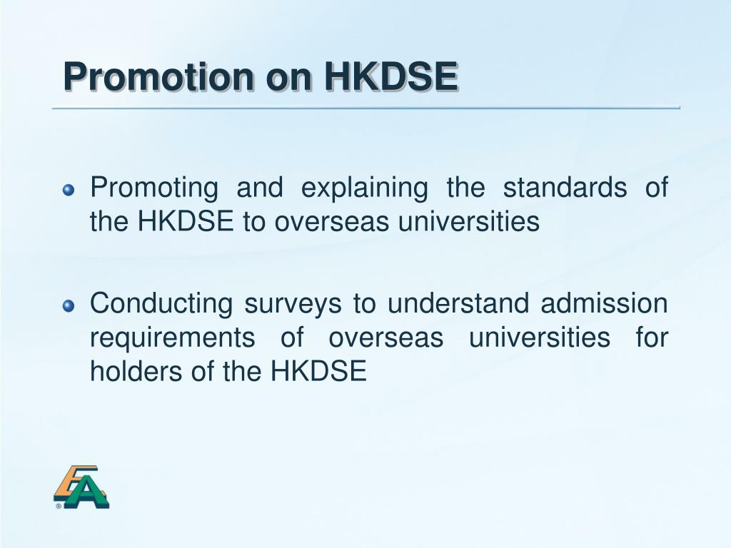 Promotion on HKDSE