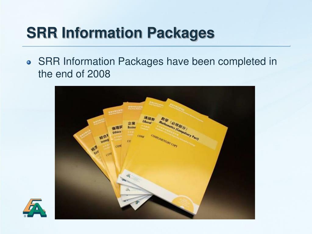 SRR Information Packages