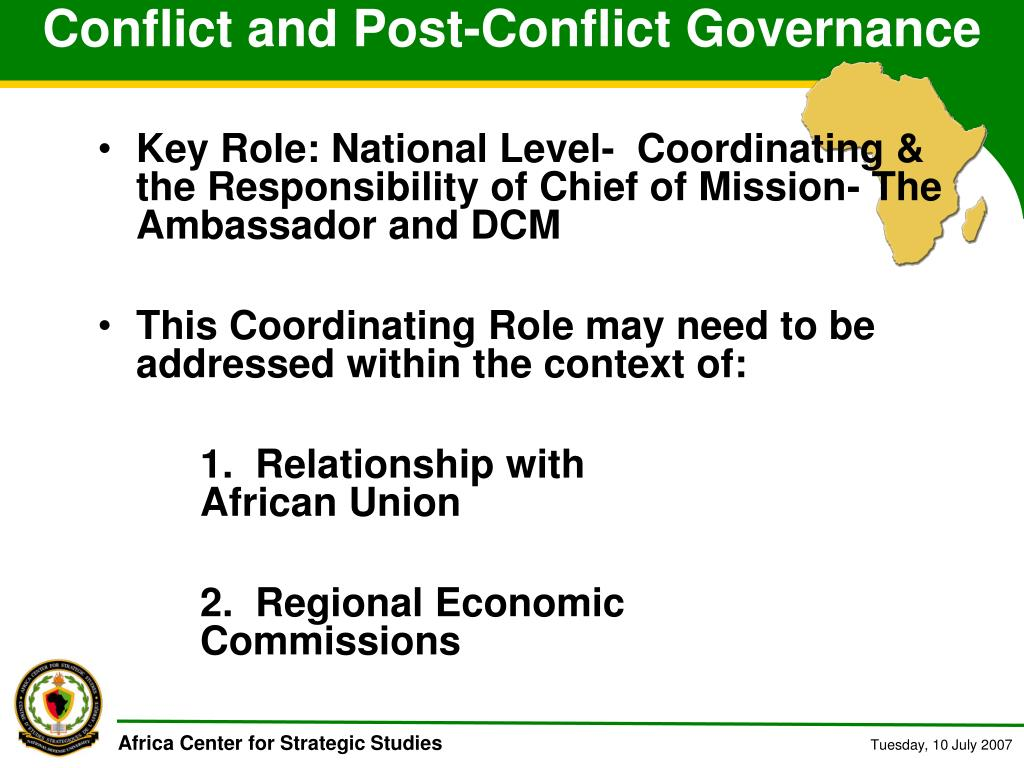 Conflict and Post-Conflict Governance