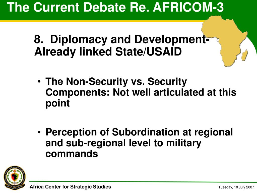 The Current Debate Re. AFRICOM-3