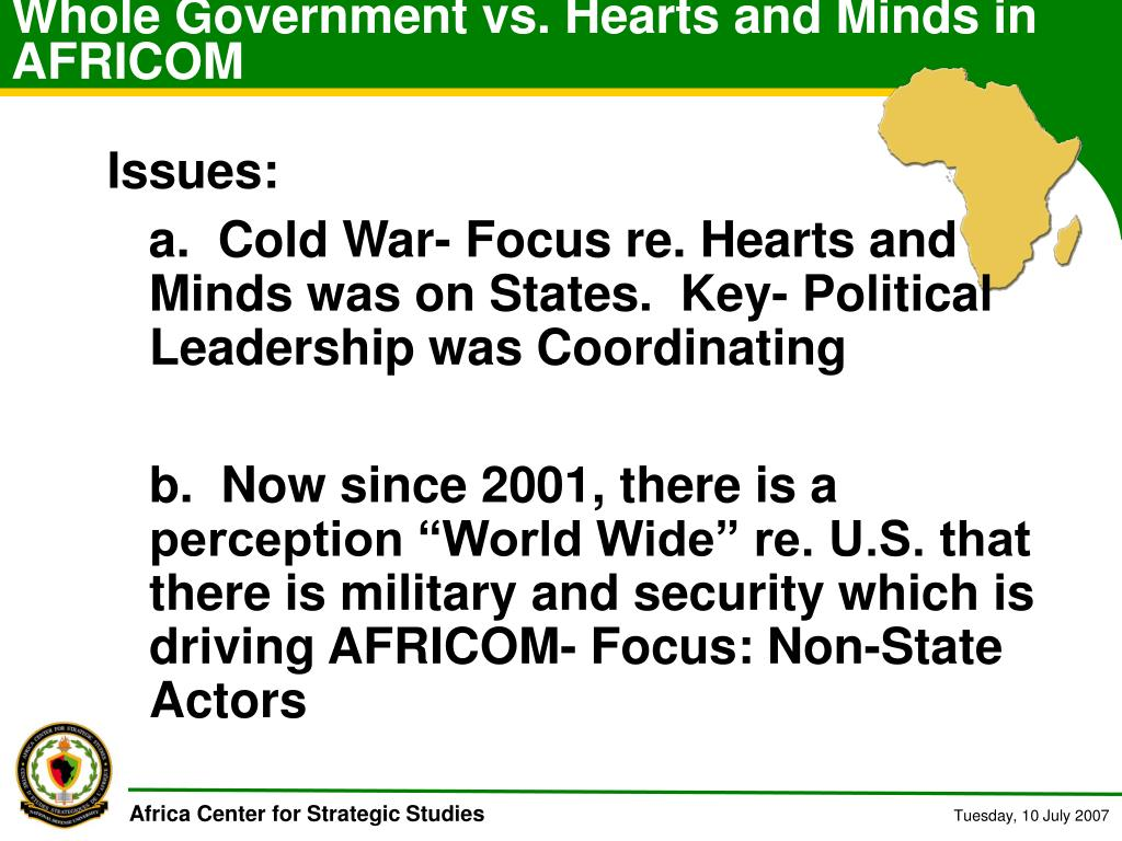 Whole Government vs. Hearts and Minds in AFRICOM