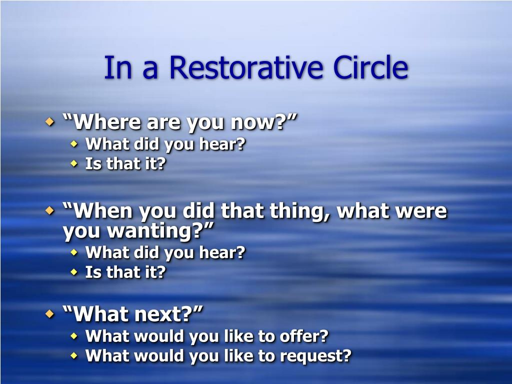 In a Restorative Circle