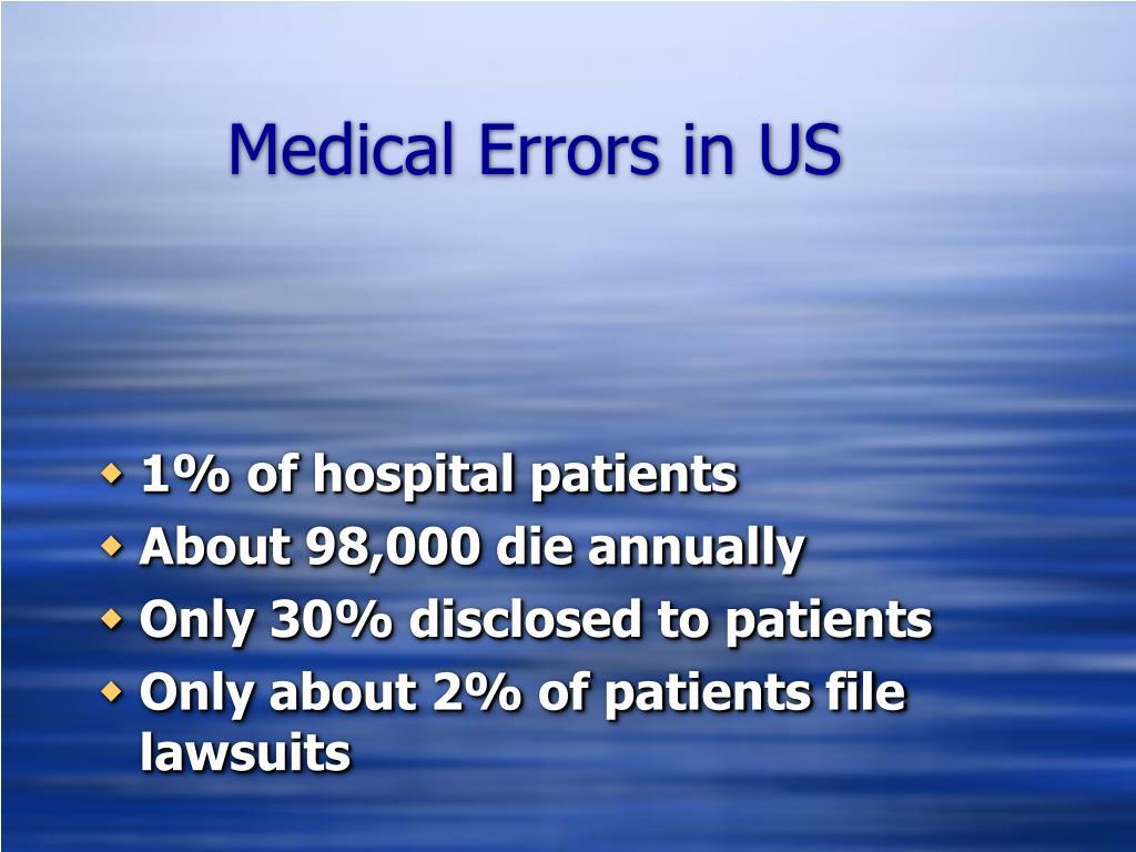Medical Errors in US