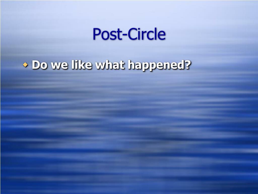 Post-Circle