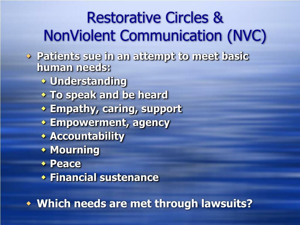 Restorative Circles &