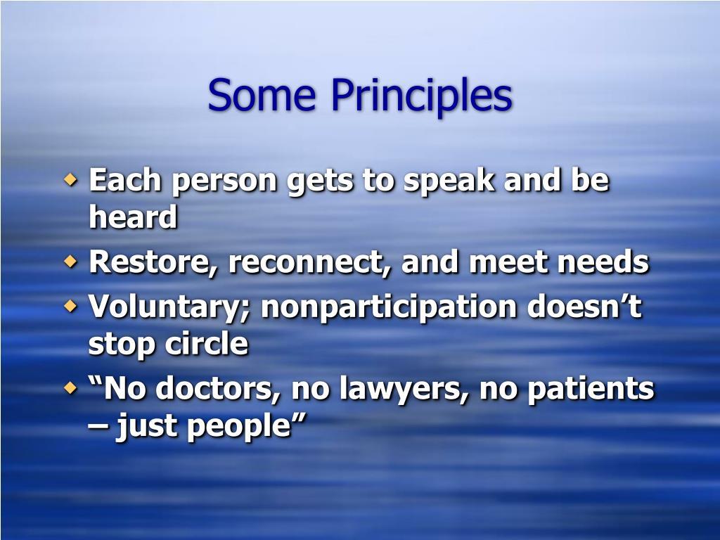 Some Principles