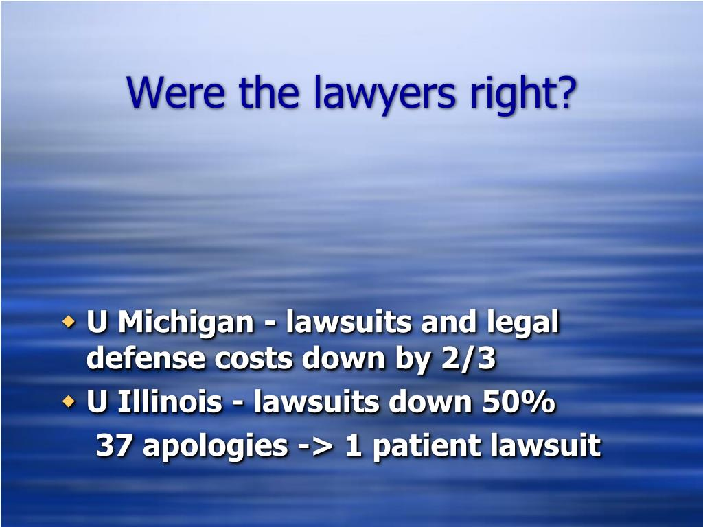 Were the lawyers right?