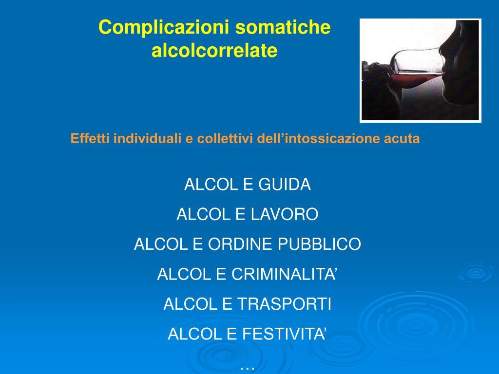Complicazioni somatiche