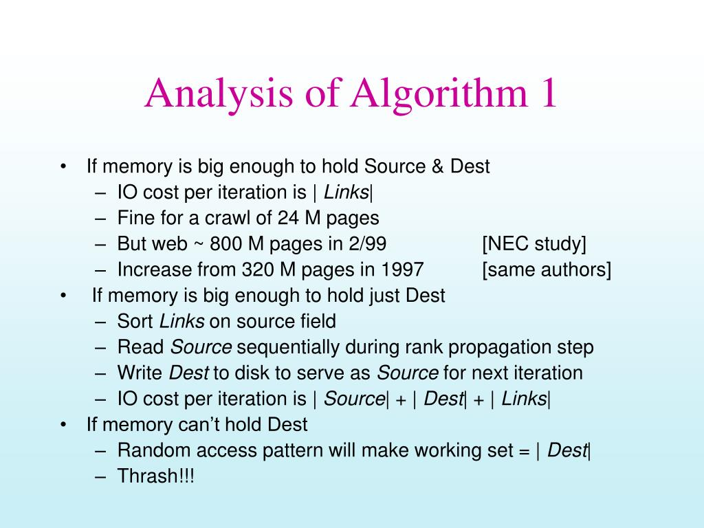 Analysis of Algorithm 1