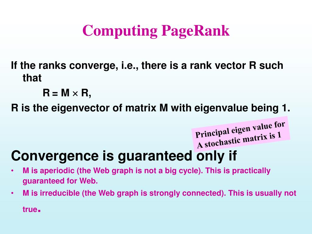 Computing PageRank