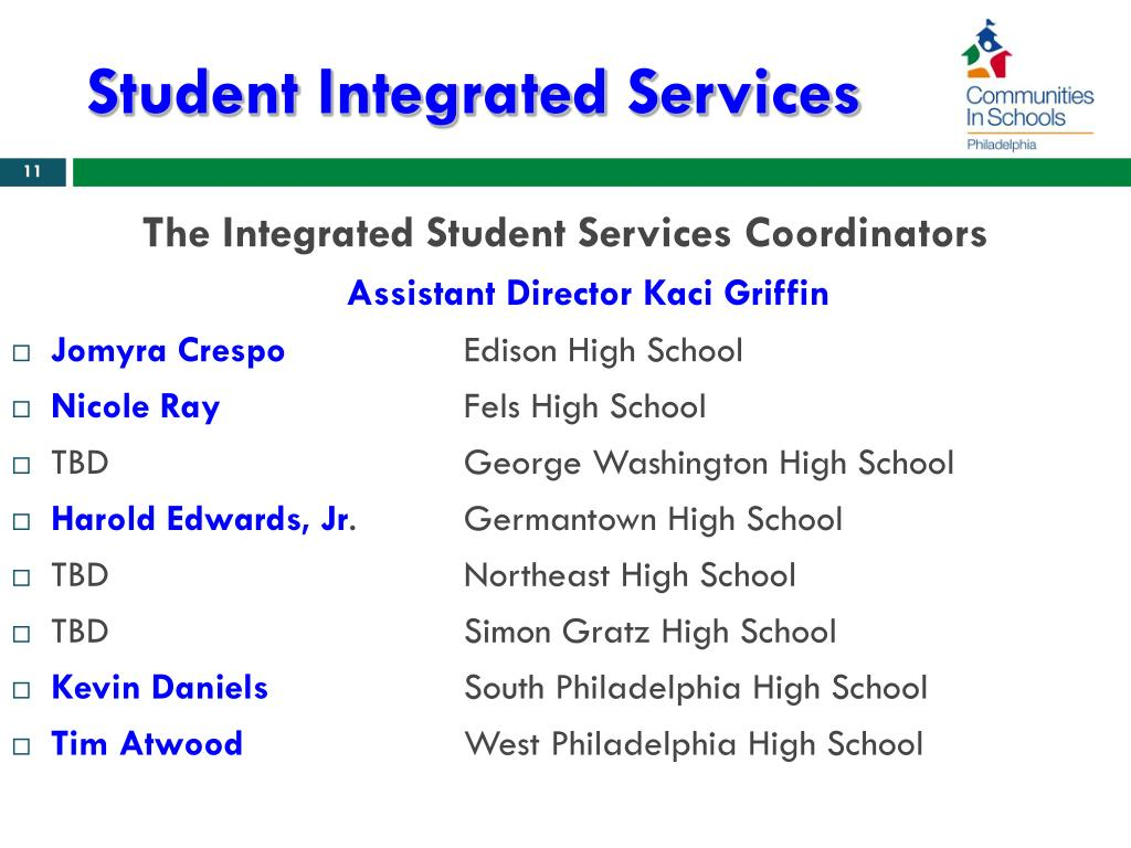 Student Integrated Services