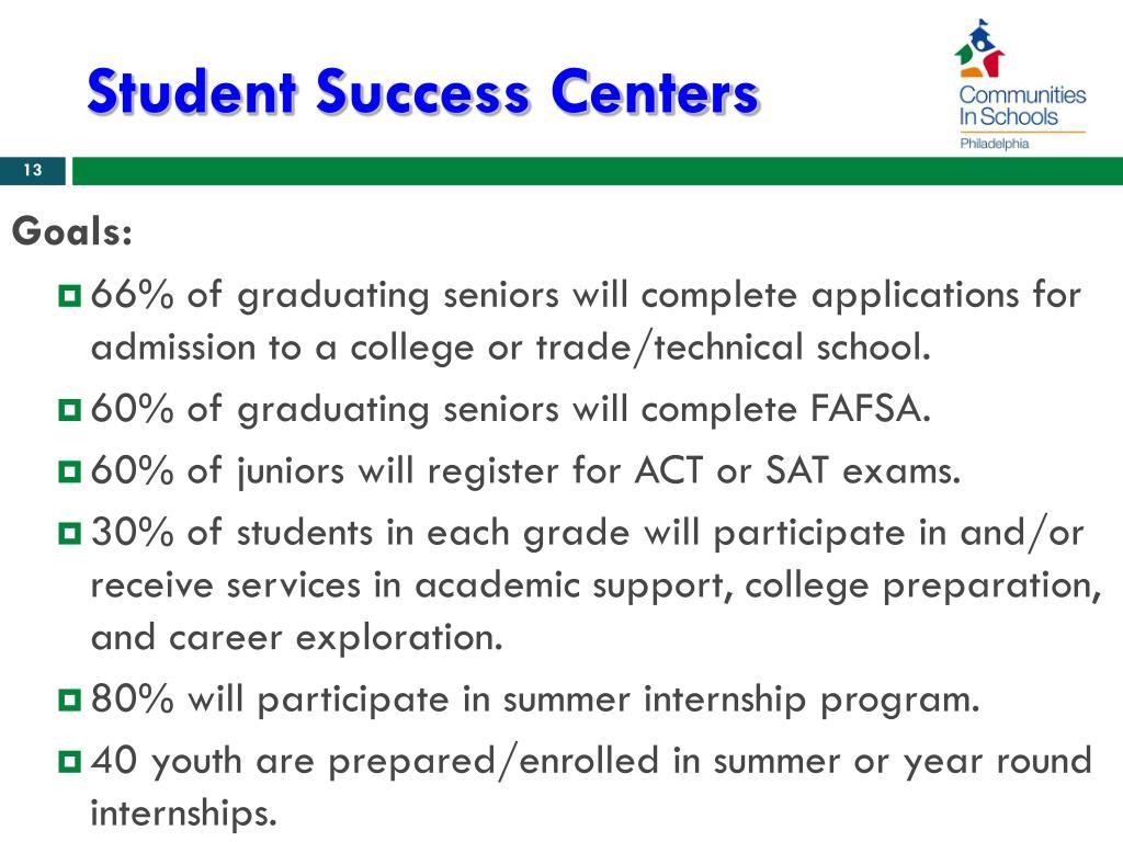 Student Success Centers