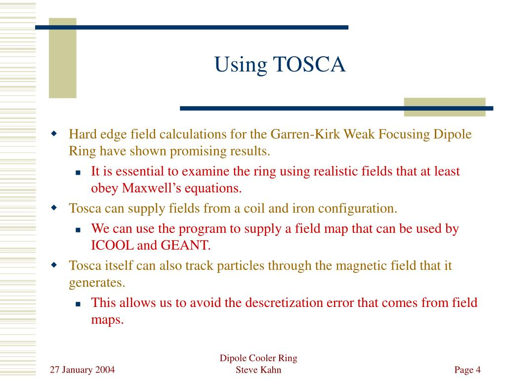 Using TOSCA