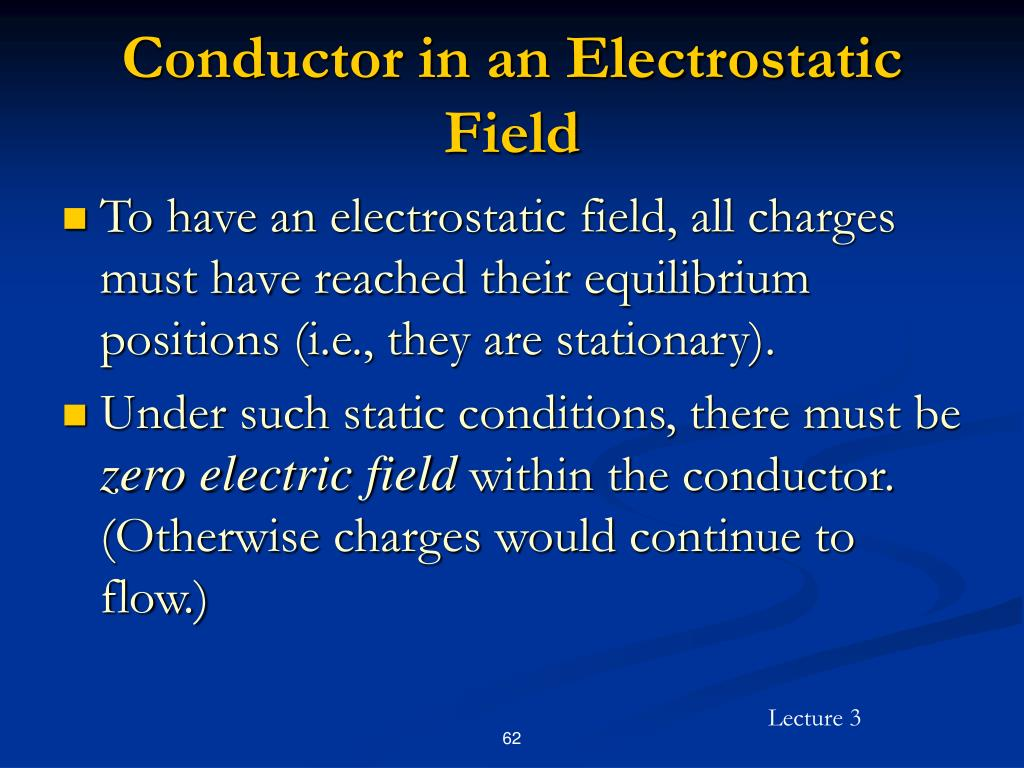 Conductor in an Electrostatic Field