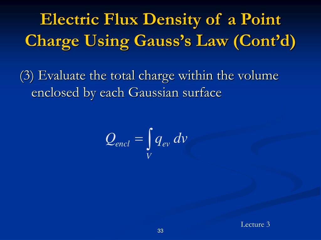 Electric Flux Density of a Point Charge Using Gauss's Law (Cont'd)