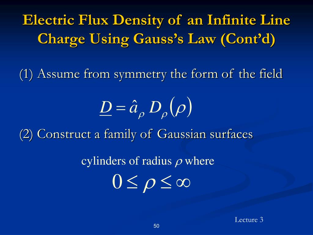 Electric Flux Density of an Infinite Line Charge Using Gauss's Law (Cont'd)