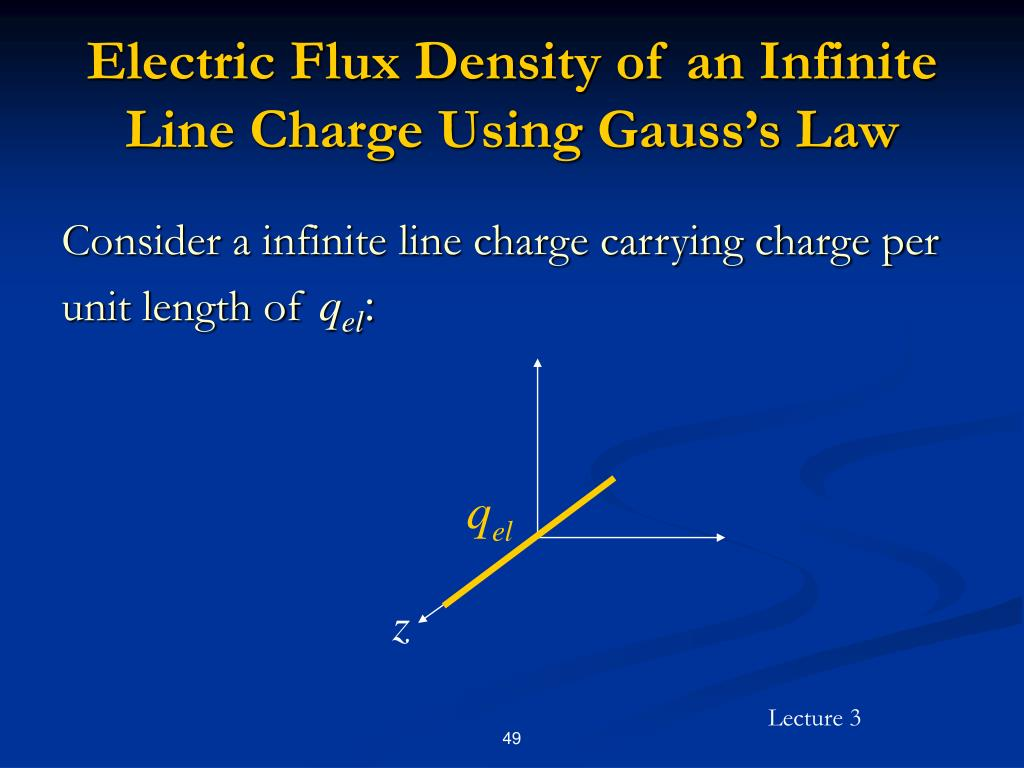 Electric Flux Density of an Infinite Line Charge Using Gauss's Law